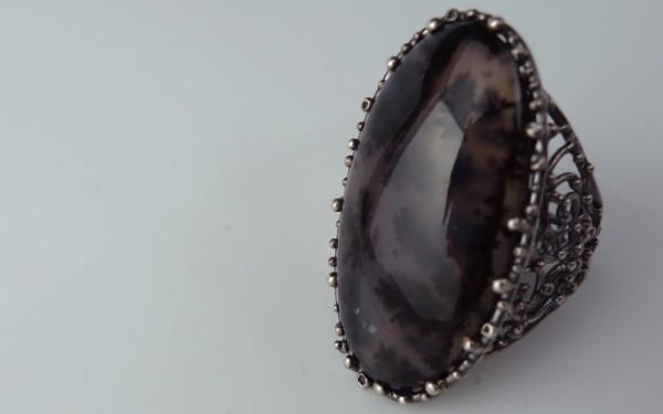 デントリティック アメジストの指輪画像